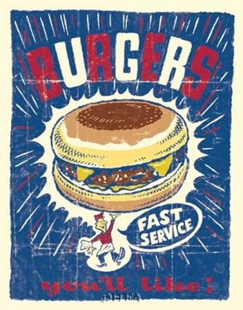 Burgers by Joe Giannakopoulos art print