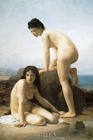 The Bathers by William Adolphe Bouguereau art print