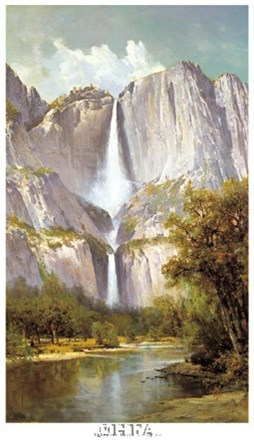 Yosemite Falls by Thomas Hill art print