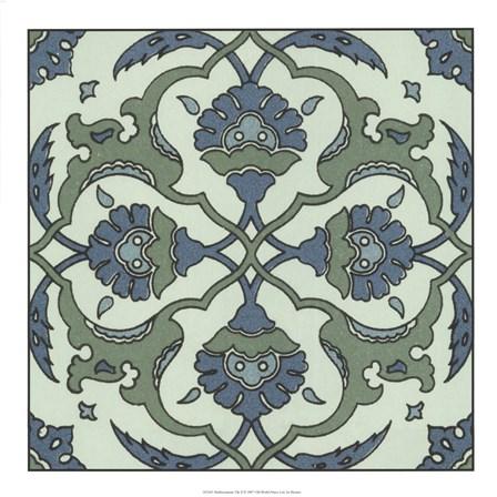 Mediterranean Tile II art print