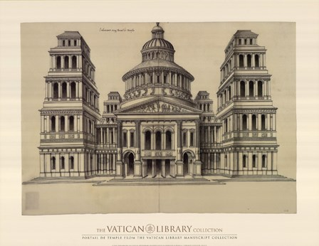 Portail de Temple, (The Vatican Collection) art print