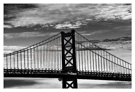 Benjamin Franklin Bridge (b/w) by Erin Clark art print