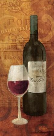 Vin Rouge Panel I by Albena Hristova art print