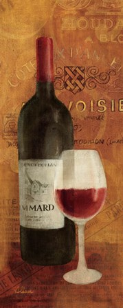 Vin Rouge Panel II by Albena Hristova art print