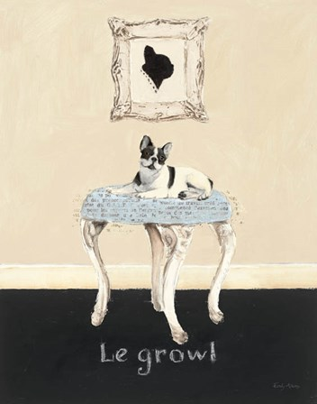 Le Growl by Emily Adams art print