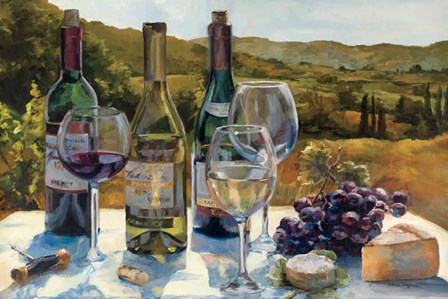 A Wine Tasting by Marilyn Hageman art print
