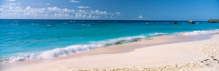 Waves on the beach, Warwick Long Bay, South Shore Park, Bermuda by Panoramic Images art print