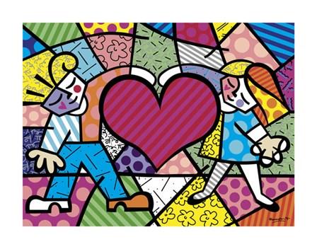 Heart Kids by Romero Britto art print