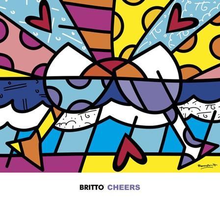 Cheers by Romero Britto art print