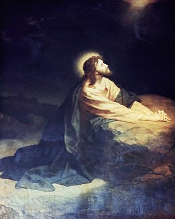 Christ in the Garden of Gethsemane Heinrich Hoffmann (1824-1911 German) art print
