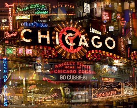 Chicago Night by Giesla Hoelscher art print