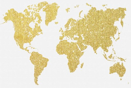 Gold Map by Natasha Wescoat art print