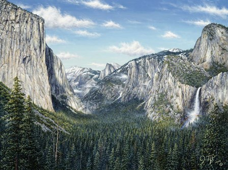 Yosemite Valley by Jeff Tift art print