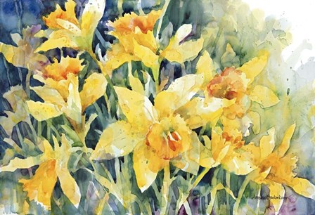 Daffodil Party by Annelein Beukenkamp art print