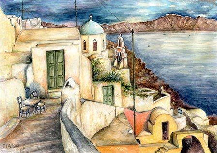 Santorini by Peter Potter art print