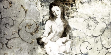 Madonna and Child (after Van Dyck) by Simon Roux art print