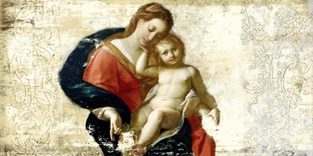 Madonna and Child (after Procaccini) by Simon Roux art print
