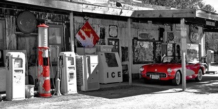Vintage Gas Station on Route 66 by Vadim Ratsenskiy art print