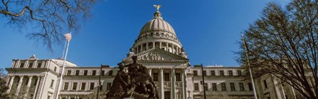 Statue at Mississippi State Capitol, Jackson, Mississippi by Panoramic Images art print