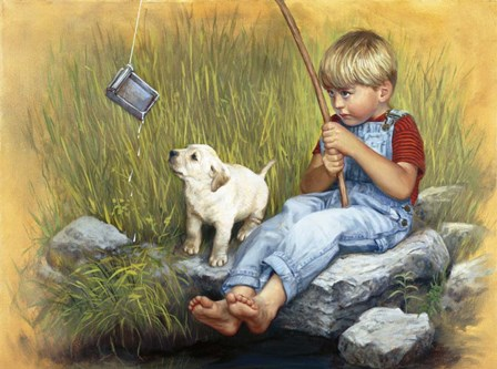 Fishing Blues by David Lindsley art print
