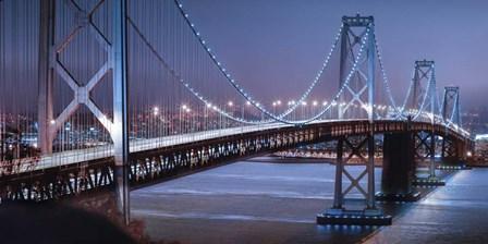 Oakland Bridge 2 Color by Moises Levy art print