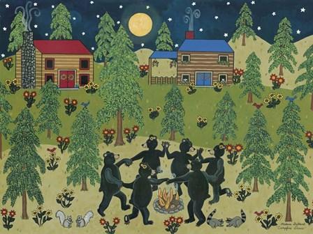 Campfire Dance II by Medana Gabbard art print