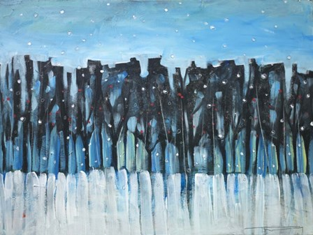Winter Treeline With Berries by Tim Nyberg art print