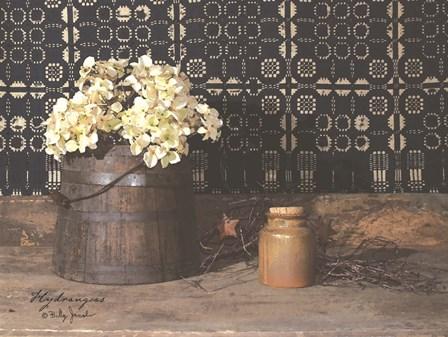 Hydrangeas by Billy Jacobs art print